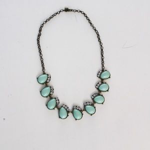 J Crew Turquoise And Stone Statement Necklace